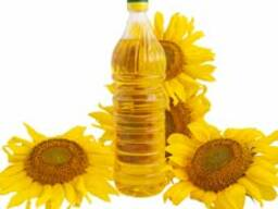 Bottled sunflower oil